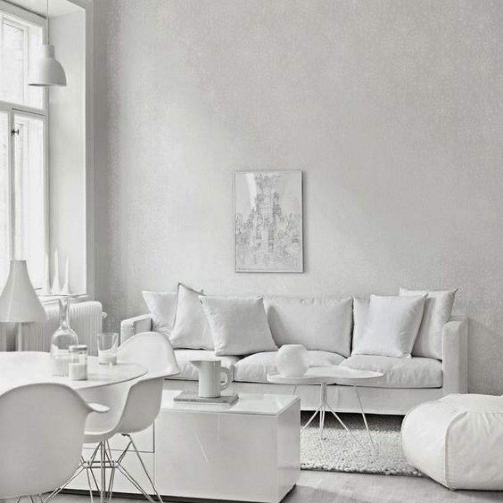 soggiorno moderno bianco